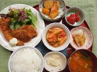 海老フライ&チキンカツ★(^^♪・・・・・700円ランチ - 日だまりカフェ