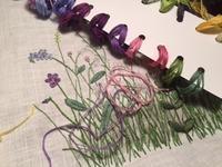 お花の刺しゅうに取りかかりました - y-hygge