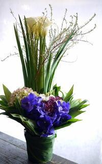 翌日の四十九日用に。新川5条にお届け。 - 札幌 花屋 meLL flowers