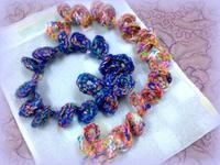 ☆編み方・簡単に編める・かぎ針編みのブレスレット☆ - ガジャのねーさんの  空をみあげて☆ Hazle cucu ☆