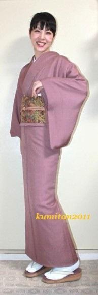 今日の着物コーディネート♪(2017.2.27)~色無地&洒落袋帯編~ - 着物、ときどきチロ美&チャ美。。。リサイクル着物ハタノシイナ♪
