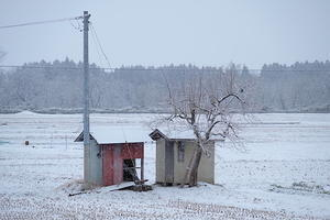 あの小屋の、早春。 - とうほく小屋の写真帖