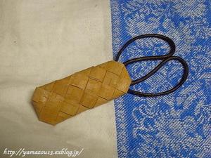 籠編み糸切り鋏キャップと季節の白樺細工 - ロシアから白樺細工