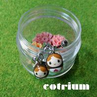 マトちゃんイヤリング - cotrium(コトリウム) 手作り雑貨(マト・とり・動物など)