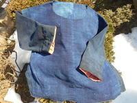 製作途中の・・・・下の写真は麻(そろそろ気になる素材) - 藍ちくちく日記