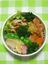 若鶏と竹輪の塩胡椒炒め★(^^♪・・・・・さやちゃん弁当 - 日だまりカフェ