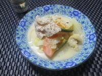 オレガノ香る♪ 豚肉と色々野菜のミルク味噌煮 - candy&sarry&・・・