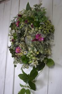 ケイフルールならでは なんて美しいんでしょう 野の花リース - おもちゃ箱ぐらし           ケイ・フルール 青森 アーティフィシャルフラワー