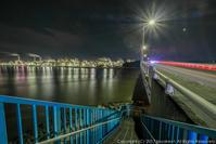 網干臨海大橋夜景 - シセンのカナタ