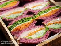 禁断の紫…紫カンパーニュで人参サンドイッチ。 - 薬膳な酒肴ブログ~今宵も酔い宵。