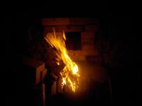 窯焚き(第27回)始める - 冬青窯八ヶ岳便り