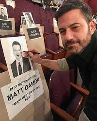2017年アカデミー賞授賞式のJimmy KimmelとMatt Damon - amore spacey