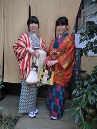 個性的にレトロなお着物で。 - 京都嵐山 着物レンタル&着付け「遊月」