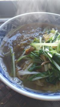 沖縄の「新もずく」で蕎麦 - 料理研究家ブログ行長万里  日本全国 美味しい話