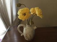 黄色いポピー - 布花館へようこそ