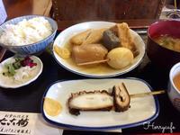 老舗の関東煮(かんとだき)定食とおぜんざい  @大阪道頓堀・法善寺横丁 - 趣味とお出かけの日記