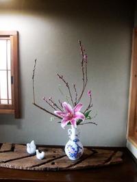 桃の花とひな祭りの設え - 活花生活(2)