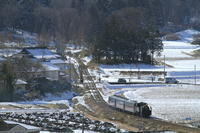 雪がとけていく日 - 2017年・真岡 - - ねこの撮った汽車