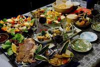 ■晩酌メニューラスト【全貌編&娘夫婦の持参品ジャンボステーキとワインで乾杯!! 】です♪ - 「料理と趣味の部屋」