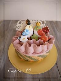 ひな祭りのケーキ2017 - cuisine18 晴れのち晴れ