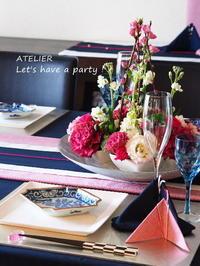 「2月のテーブルコーディネート&おもてなし料理レッスン」全て終了しました♪ - ATELIER Let's have a party ! (アトリエレッツハブアパーティー)         テーブルコーディネート&おもてなし料理教室
