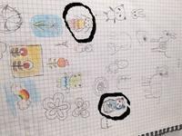 自作デザイン マトパンダ&女の子 - 羊毛フェルト&アートde虹色ほっこり生活