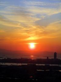 あべのハルカスの夕陽 ~大阪マリオット都ホテル~ - リズムのある暮らし