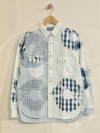 BLUE BLUE / フェード パネルインディゴチェック ワイドワークシャツ - Safari ブログ