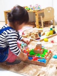 《2歳1ヶ月》積み木でケーキ作り - ゆりぽんフォト記