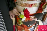 古典柄のお着物に 扇子ブーケ&髪飾り&胸元飾り - Ys Floral Deco Blog