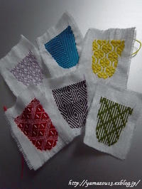 皿付指貫用刺繍色々 - ロシアから白樺細工