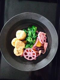 紫人参の春色煮物*今年のひな祭りご飯 - E*N*JOY