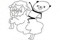 本日のイラスト その279(羊に乗ったパンダ) - hacmotoのフォルダ