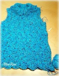 編みかけのプルオーバー♪ その5 - ルーマニアン・マクラメに魅せられて