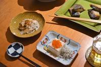 小松菜とお揚げの炊いたん/酢蓮根とザーサイ和え/粕漬の焼き物/などなど - まほろば日記