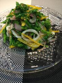 菜の花サラダ - in the kitchen
