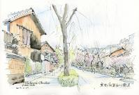 祇園白川南通の風景 - 風と雲