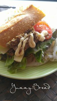 三陸の秋刀魚のバケットサンド - 料理研究家ブログ行長万里  日本全国 美味しい話