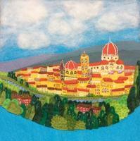 フェルト絵本製作中「街の風景」のページ - SAKOmama  布絵本工房