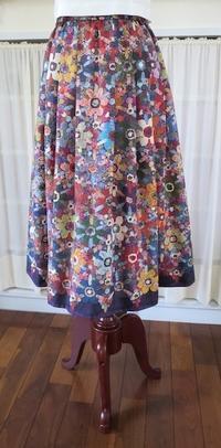 スカート『タック&ギャザー/1713』 - いつかリリアン・ギッシュのように…手作りお洋服のあとりえ便り