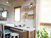 ふたり並んで座れる、簡単テーブルDIY〜窓周りのリフォーム - 暮らしをつくる、DIY*スプンク