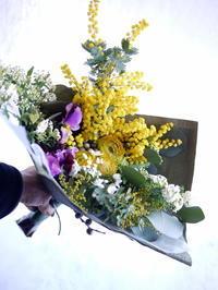 退職される男性への花束。北1西5にお届け。 - 札幌 花屋 meLL flowers