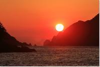 過日の鹿島の夕日 - ハチミツの海を渡る風の音