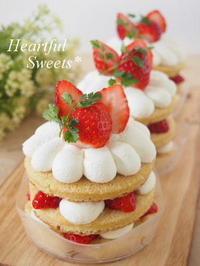 苺のミニケーキ。・* - Heartful Sweets