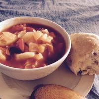 寒い日のスープとパン - 福岡で自家製酵母のパン教室をはじめました/ Danchi ダンチ