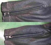 革ジャンのお直し、ファスナー付き袖丈詰め - LDFS ブログ
