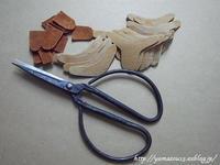 皿付指貫用部材を切り出す。 - ロシアから白樺細工