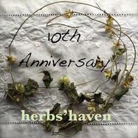 herbs' haven 10周年 - 英国メディカルハーバリスト