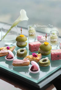 桜のアフタヌーンティー❀ - フランス菓子教室 Paysage Calme