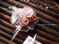 門出を祝うコサージュ♪&なごり雪・・・☆ - 花が教えてくれたこと